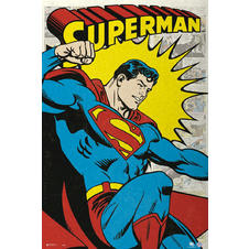 "Poster de Superman ""Retro Comic"""