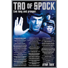 "Poster Star Treck ""Tao of Spock"""