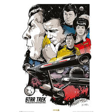 Poster Star Trek - Boldly Go/