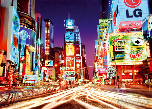 poster xxl times square new york by night posters xxl commandez d s maintenant close up. Black Bedroom Furniture Sets. Home Design Ideas