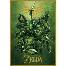 "Poster XXL ""La légende de Zelda/ The Legend of Zelda"