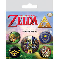 Set de 5 boutons The Legend of Zelda