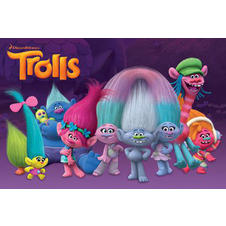 Poster Les Trolls - Personnages