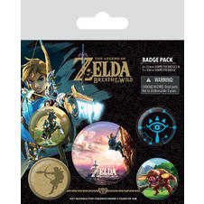 Set de 5 boutons The Legend of Zelda -