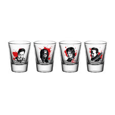 Set de 4 Verres à liqueur The Walking Dead -