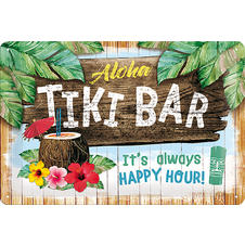Plaque de tôle Tiki Bar -