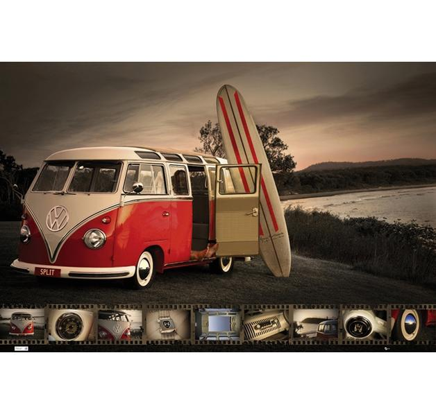 vw camperbus poster bei close up im fanshop kaufen. Black Bedroom Furniture Sets. Home Design Ideas