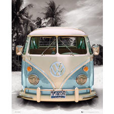 "Poster Combi VW ""Love Transporter"""