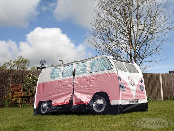 tente de jeux mini van volkswagen rose pour enfants. Black Bedroom Furniture Sets. Home Design Ideas