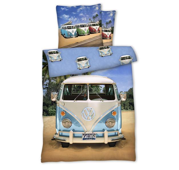 drap de lit r versible volkswagen combi en vente sur close up. Black Bedroom Furniture Sets. Home Design Ideas
