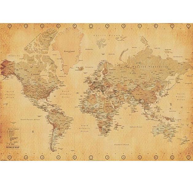 Poster XXL mappemonde (carte du monde)