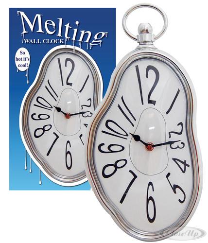 horloge murale style dali liquid time r veils montres horloges commandez d s maintenant. Black Bedroom Furniture Sets. Home Design Ideas