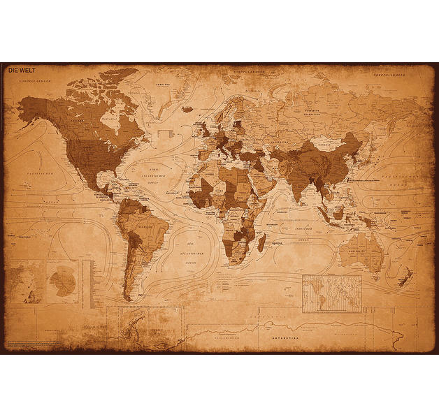carte du monde posters grand format commandez d s maintenant close up. Black Bedroom Furniture Sets. Home Design Ideas