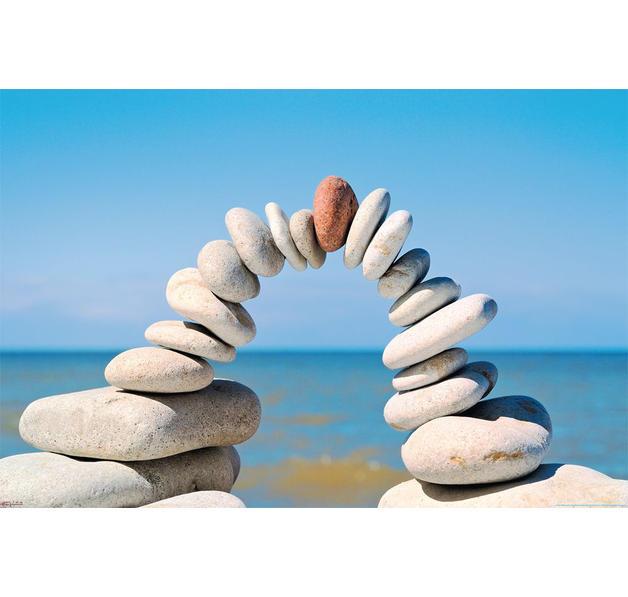 Poster pierres Zen Léquilibre parfait - Posters grand ...