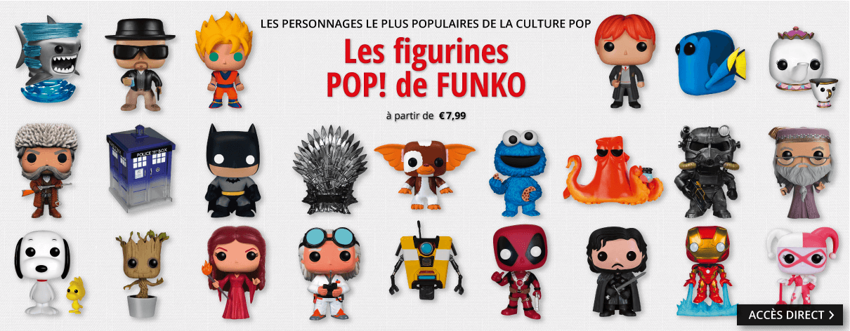 Les figurines Pop! de FUNKO