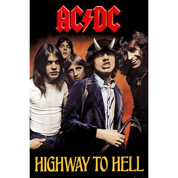 "Poster AC/DC ""Highway to Hell"""