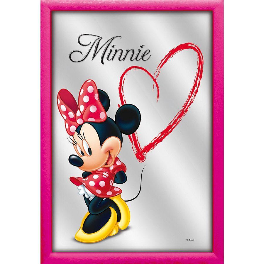 Disney Spiegel Love Minnie 22x 32cm mit Rahmen aus Kunststoff