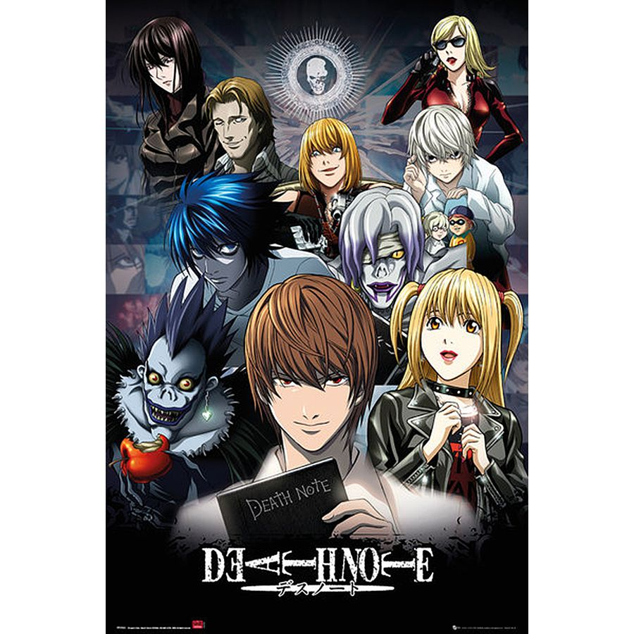 death note poster andere fanartikel bei close up kaufen. Black Bedroom Furniture Sets. Home Design Ideas