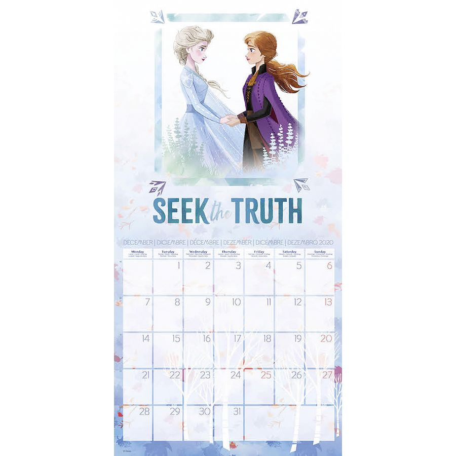 Calendrier 2020 Disney.Calendrier 2020 Disney Frozen En Vente Sur Close Up