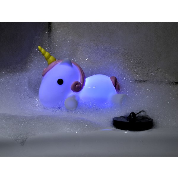 bouchon de baignoire licorne light up bath plug sur close up. Black Bedroom Furniture Sets. Home Design Ideas