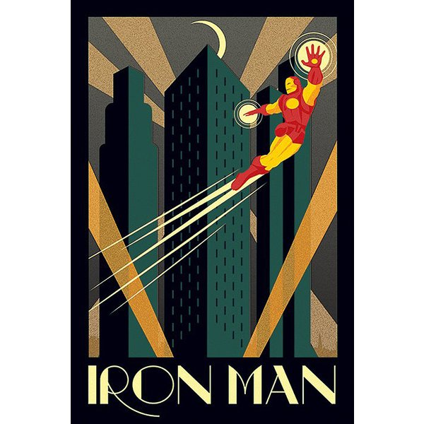 Poster Iron Man Art Deco