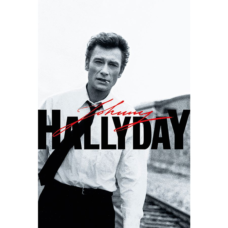 poster johnny hallyday noir et blanc en vente sur close up. Black Bedroom Furniture Sets. Home Design Ideas