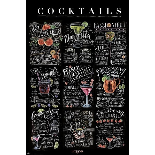 Poster Lily & Val - Cocktails