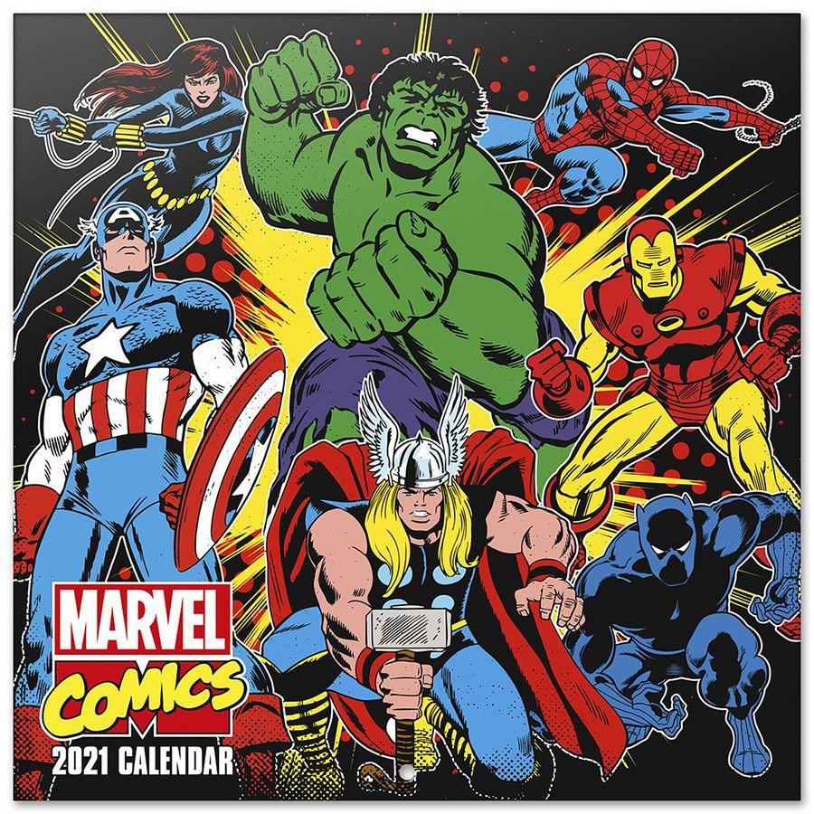 Calendrier 2021   Marvel Comics , en vente sur Close Up