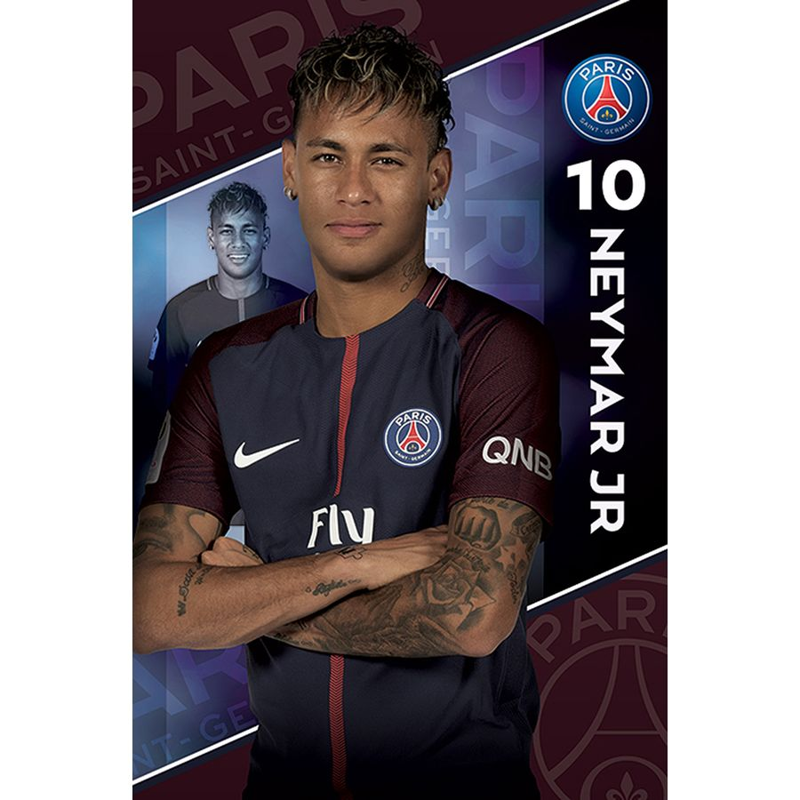 poster neymar jr paris saint germain en vente sur close up. Black Bedroom Furniture Sets. Home Design Ideas