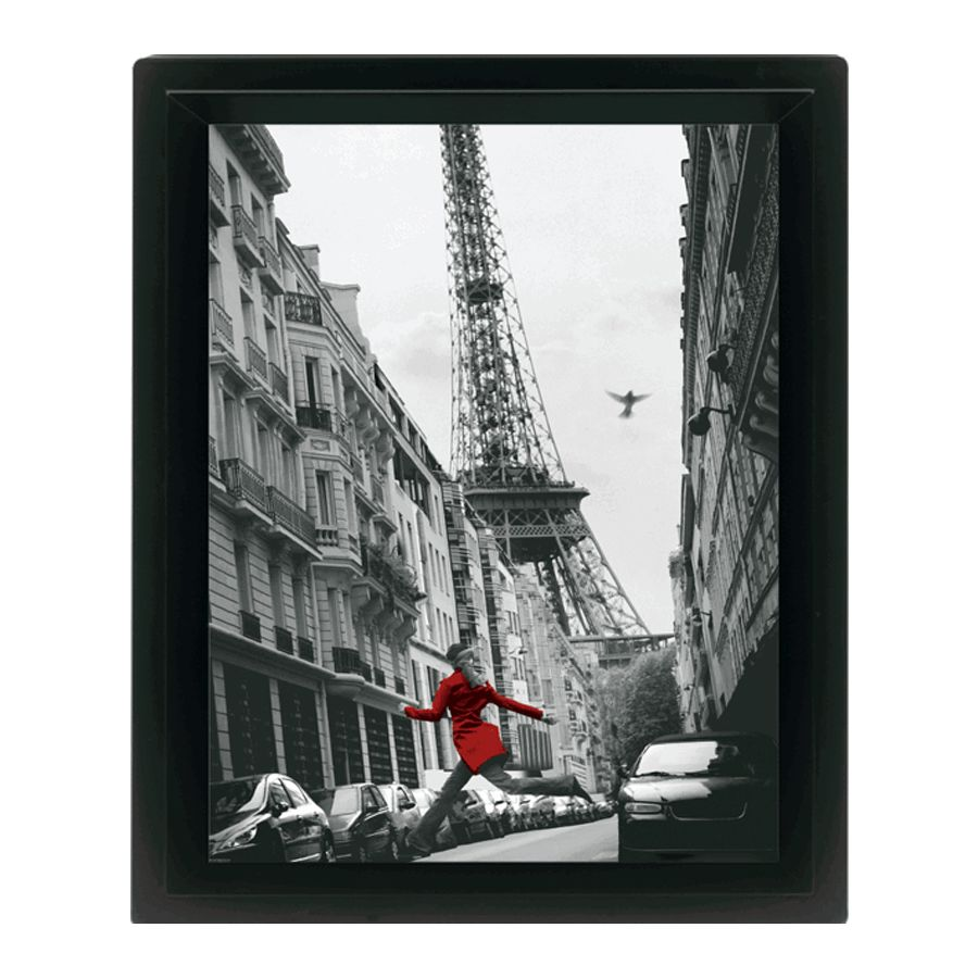 poster encadr paris la veste rouge posters en 3d commandez d s maintenant close up. Black Bedroom Furniture Sets. Home Design Ideas