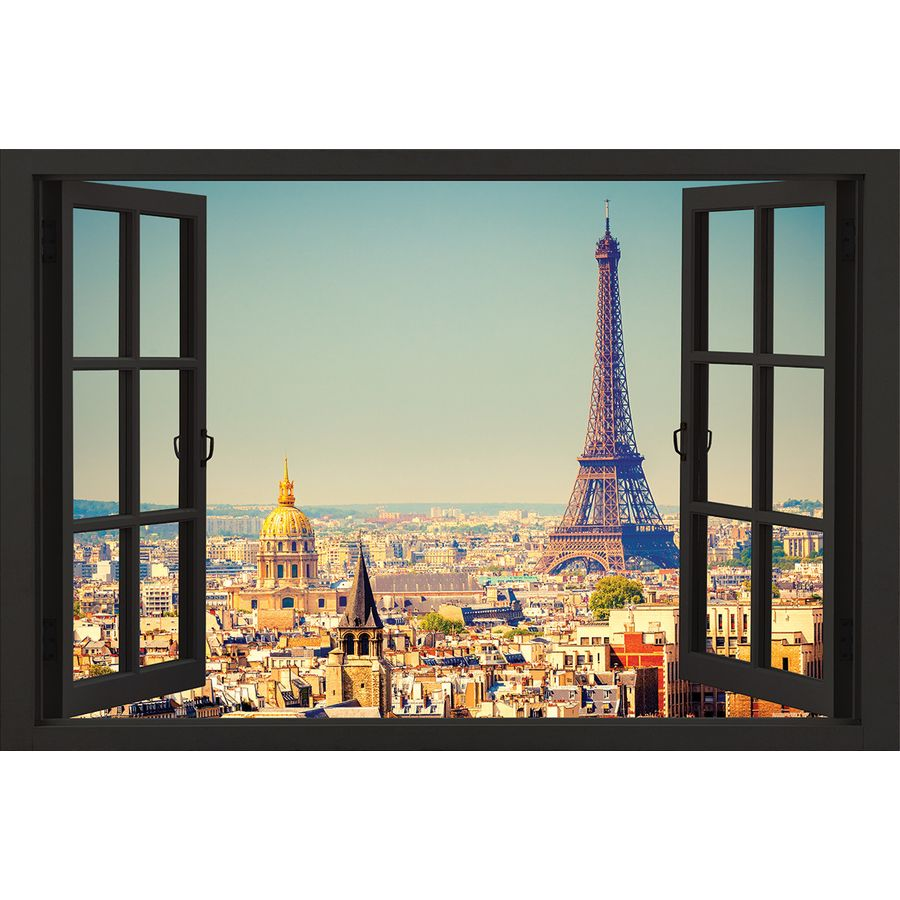 poster vue sur paris posters grand format commandez d s maintenant close up. Black Bedroom Furniture Sets. Home Design Ideas