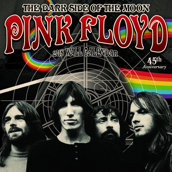 Calendrier 2018 pink floyd en vente sur close up for Dark side of the moon mural