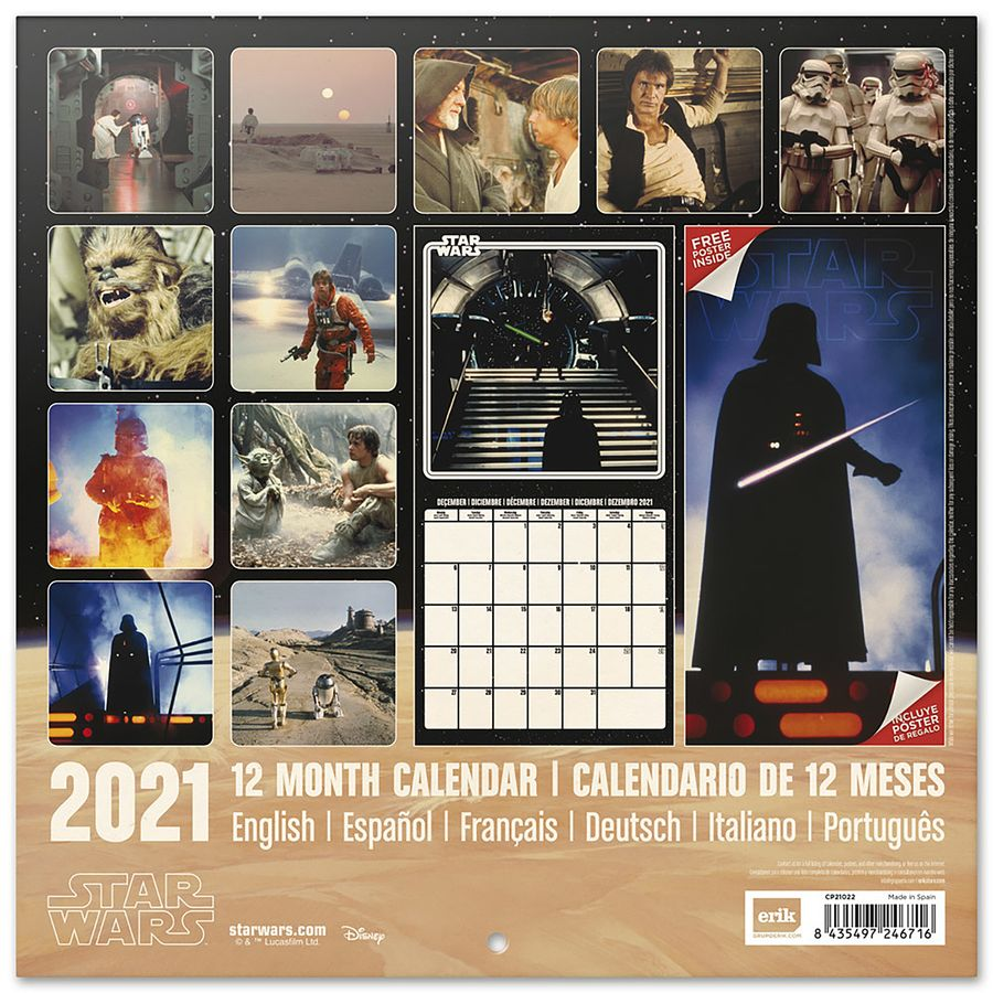 Calendrier 2021   Star Wars Classics, en vente sur Close Up