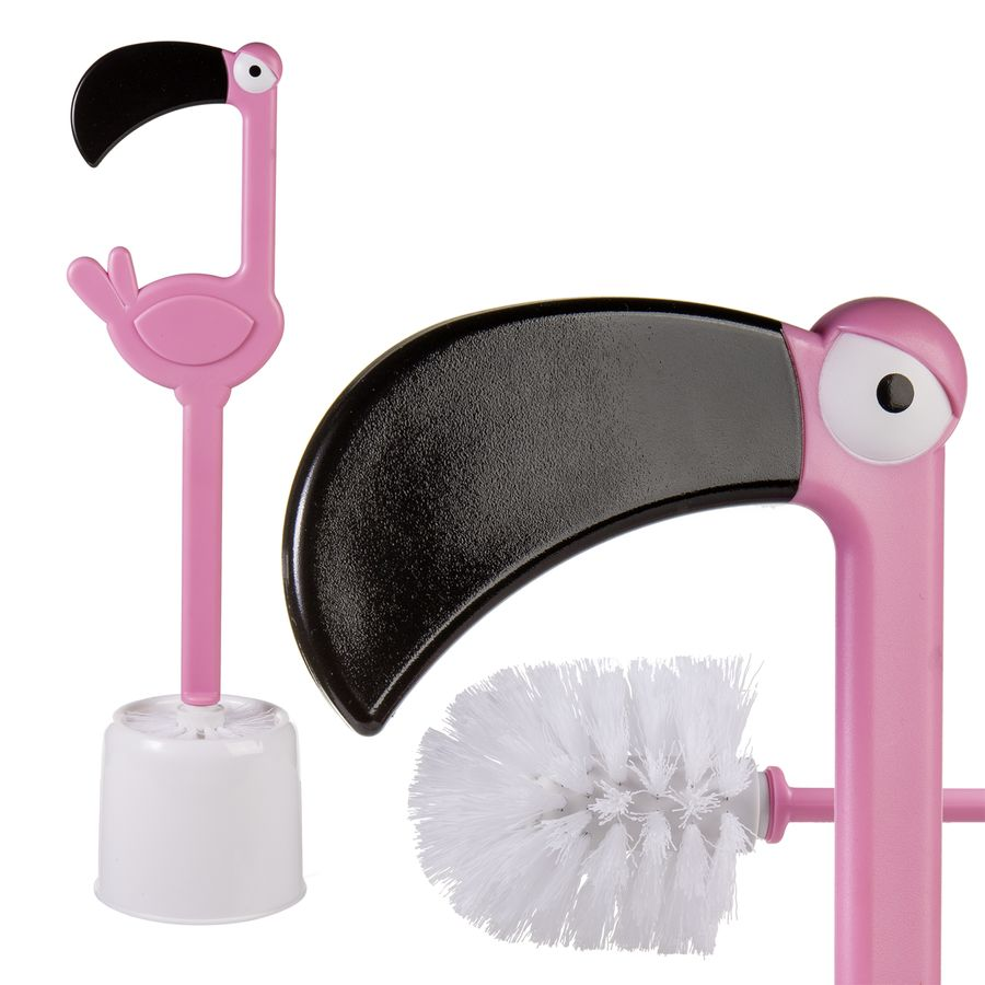 brosse de toilette flamant rose en vente sur close up. Black Bedroom Furniture Sets. Home Design Ideas