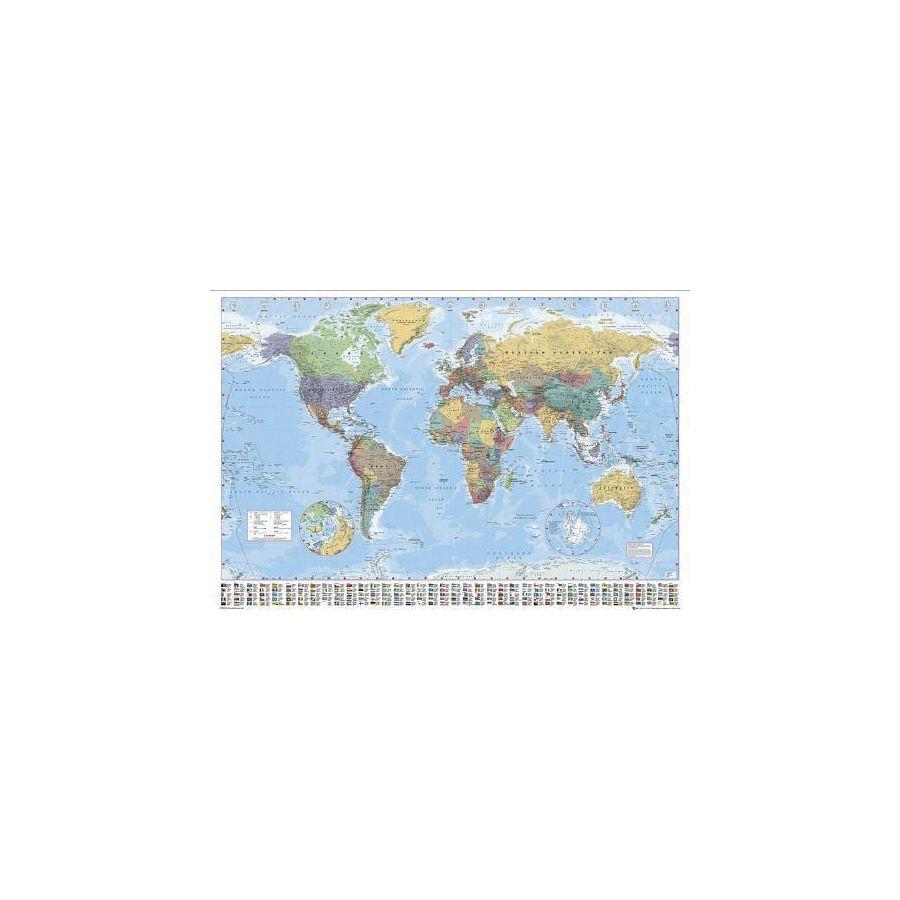 Carte Du Mondeavec Drapeaux