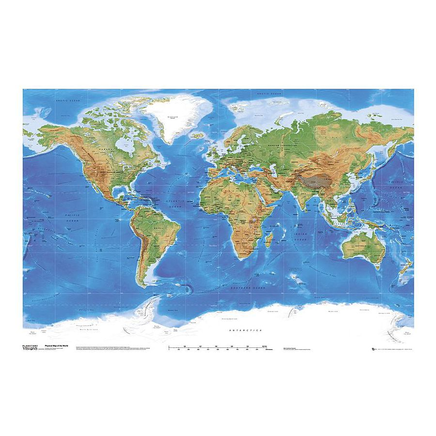 carte du monde planetary visions posters grand format commandez d s maintenant close up. Black Bedroom Furniture Sets. Home Design Ideas