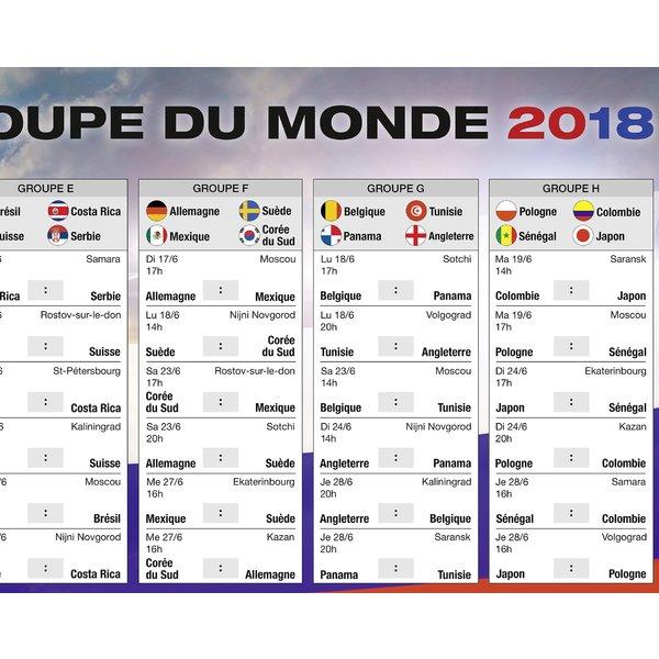 Calendrier de la coupe du monde 2018 russie football sur close up - Calendrier eliminatoire coupe du monde ...